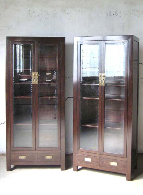 02 Custom Make Brown 2 Doors Glass, Glass Display Cabinet Singapore